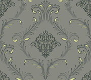 Vector damask seamless pattern element. Classical luxury old fashioned damask ornament, royal victorian seamless texture for wallpapers, textile, wrapping Royalty Free Stock Image