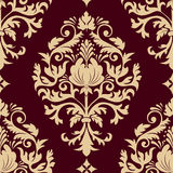 Vector damask seamless pattern element. vector illustration