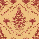 Vector damask seamless pattern element. Royalty Free Stock Photo