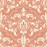 Vector damask seamless pattern element. Royalty Free Stock Images