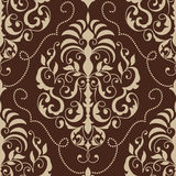 Vector damask seamless pattern element. Stock Photography