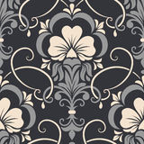 Vector damask seamless pattern element. Elegant luxury texture for wallpapers, backgrounds and page fill Stock Images
