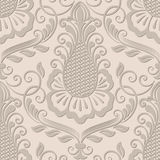 Vector damask seamless pattern element. Stock Image