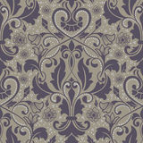 Vector damask seamless pattern element. Royalty Free Stock Photography