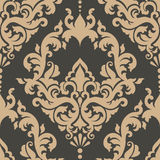 Vector damask seamless pattern element. Royalty Free Stock Image