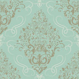 Vector damask seamless pattern element. Elegant luxury texture for wallpapers, backgrounds and page fill Royalty Free Stock Photo