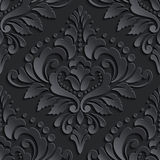 Vector damask seamless pattern element. Elegant Stock Image