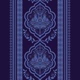 Vector Damask seamless pattern. Monochrome vintage background royalty free illustration