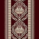 Vector Damask seamless pattern. Monochrome vintage background Stock Illustration
