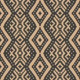 Vector damask seamless retro pattern background check geometry cross aboriginal frame. Elegant luxury brown tone design for. Wallpapers, backdrops and page fill royalty free illustration