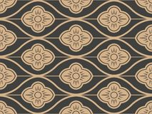 Vector damask seamless retro pattern background oriental curve cross frame line flower. Elegant luxury brown tone design for. Wallpapers, backdrops and page vector illustration