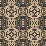Vector damask seamless retro pattern background polygon geometry cross triangle frame. Elegant luxury brown tone design for. Wallpapers, backdrops and page fill stock illustration