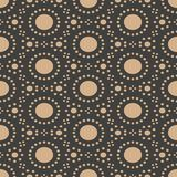 Vector Damask Seamless Retro Pattern Background Round Dot Line Geometry Frame. Elegant Luxury Brown Tone Design For Wallpapers, Royalty Free Stock Images