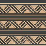 Vector damask seamless retro pattern background triangle cross geometry frame line. Elegant luxury brown tone design for. Wallpapers, backdrops and page fill royalty free illustration