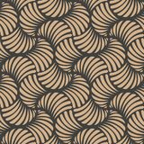 Vector damask seamless retro pattern background wave spiral curve cross vortex. Elegant luxury brown tone design for wallpapers,. Backdrops and page fill royalty free illustration