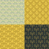 Vector damask vintage seamless pattern background. Stock Photography