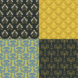 Vector damask vintage seamless pattern background. Royalty Free Stock Photos