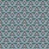 Vector damask vintage seamless pattern background. Stock Photo
