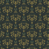 Vector damask vintage seamless pattern background. Royalty Free Stock Images