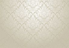 Vector damask wallpaper design. Seamless repetitive floral deco vector illustration