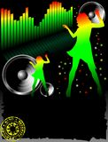 Vector dance poster. Bright style royalty free illustration