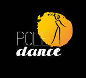 Vector dance studio logo. Dance club icon. Dancing girl icon. Human icon. Stamp. Paint drop isolated. Human figure. Dancing lady silhouette. Pole dance. Dance Royalty Free Stock Photos