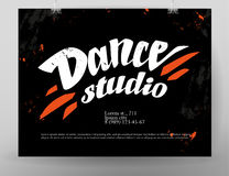 Vector dance studio logo. Stock Images