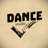 Vector dance studio logo. Royalty Free Stock Images