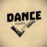 Vector dance studio logo. Royalty Free Stock Images