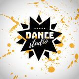 Vector dance studio logo. vector illustration