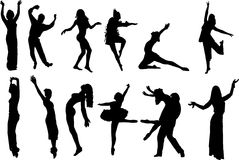 Vector dancer. Vector image of different dancer Royalty Free Stock Photos