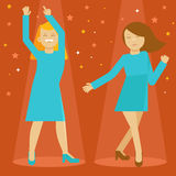 Vector dancing girls Royalty Free Stock Photo