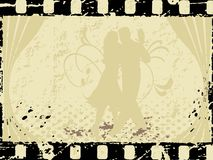 Vector dancing lover on a vintage Stock Images