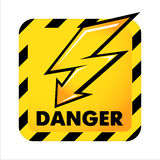 Vector danger button Stock Image