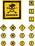The vector danger grunge buttons Royalty Free Stock Image