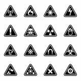 Vector Danger icon set Royalty Free Stock Photo