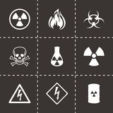 Vector danger icons set Stock Images