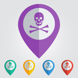 Vector danger sign in pin. Format eps10 Royalty Free Stock Photos