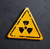 Vector danger sign of radioactivity Stock Image