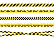 Vector Danger Sign Ribbon, Tape Isolated on White Background,Black and Yellow. vector illustration