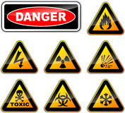 Vector danger signs Stock Images