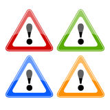 Vector danger signs Royalty Free Stock Photos