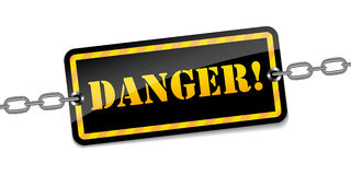 Vector danger warning sign Stock Photo