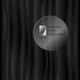 Vector dark background of abstract waves Stock Image