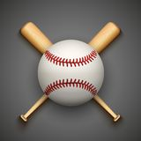 Vector dark background of baseball leather ball Royalty Free Stock Image