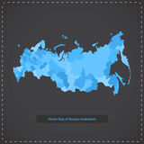 Vector dark background illustration of Russian federation. Royalty Free Stock Photography