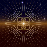 Vector Dark Background with star and rays Stock Photo