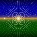 Vector Dark Background with star and rays. Vector SunRise Abstract Background with star and  radial rays Stock Photography
