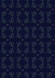 Vector dark blue seamless pattern. With blue ornament Stock Image