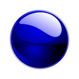 Vector dark blue sphere Royalty Free Stock Image